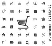 shopping cart icon. shop icons... | Shutterstock .eps vector #521553412