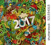 cartoon cute doodles hand drawn ... | Shutterstock .eps vector #521554315
