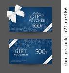 gift certificate design | Shutterstock .eps vector #521557486
