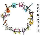 Music Design Set. Cartoon Fram...