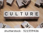 Small photo of Culture Word Written In Wooden Cube