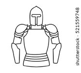 plate armor icon in outline... | Shutterstock .eps vector #521559748