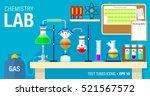scene of chemical laboratory... | Shutterstock .eps vector #521567572