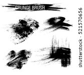vector set of grunge brush... | Shutterstock .eps vector #521570656
