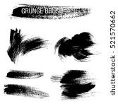 vector set of grunge brush... | Shutterstock .eps vector #521570662