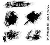 vector set of grunge brush... | Shutterstock .eps vector #521570722