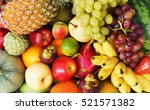 fruit background  many fresh... | Shutterstock . vector #521571382