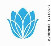 tulip logo design  flower logo... | Shutterstock .eps vector #521577148