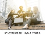 group of business people... | Shutterstock . vector #521579056