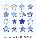 hand drawn star doodle element... | Shutterstock .eps vector #521583166