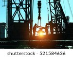 drilling exploration  the oil... | Shutterstock . vector #521584636
