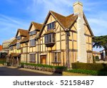 The Stratford shakespeares birthplace in England - stock photo