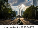paseo de la reforma avenue and... | Shutterstock . vector #521584972