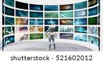 multimedia technology concept... | Shutterstock . vector #521602012