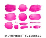 set of pink shining brush... | Shutterstock . vector #521605612