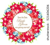invitation with floral... | Shutterstock .eps vector #521606206