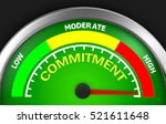 commitment level to maximum... | Shutterstock . vector #521611648