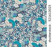 tracery seamless calming... | Shutterstock . vector #521613025