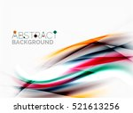wave abstract background ... | Shutterstock .eps vector #521613256