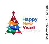 2017 christmas and new year... | Shutterstock .eps vector #521614582