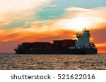 Blue Container Ship Leaving...