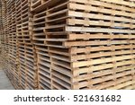 Wood Pallet In Factory Warehouse