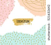 creative background with gold... | Shutterstock .eps vector #521632642