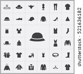 summer hat icon. clothes icons... | Shutterstock .eps vector #521636182