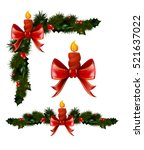 christmas decorations with fir... | Shutterstock .eps vector #521637022