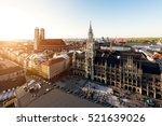 aerial view on munich old town... | Shutterstock . vector #521639026