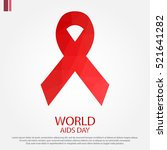 low poly design world aids day... | Shutterstock .eps vector #521641282