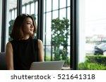 charming beautiful woman...   Shutterstock . vector #521641318