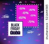 abstract vector black friday...   Shutterstock .eps vector #521644585