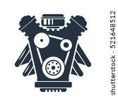 engine isolated icon on white... | Shutterstock .eps vector #521648512