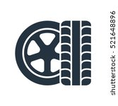 tire  wheel  isolated icon on... | Shutterstock .eps vector #521648896