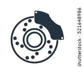 disc brake isolated icon on... | Shutterstock .eps vector #521648986