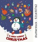 vintage christmas poster design ... | Shutterstock .eps vector #521650762