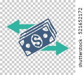 dollar banknotes payments icon. ... | Shutterstock .eps vector #521652172