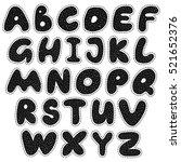 alphabet cartoon sticker style... | Shutterstock .eps vector #521652376