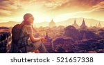 young backpacker enjoying a... | Shutterstock . vector #521657338