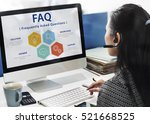 frequently asked questions... | Shutterstock . vector #521668525