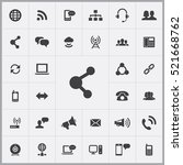 share icon. communication icons ... | Shutterstock .eps vector #521668762