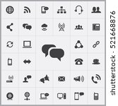 chat icon. communication icons... | Shutterstock .eps vector #521668876