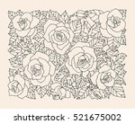 roses flowers  floral pattern... | Shutterstock .eps vector #521675002