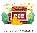 slot machine web banner... | Shutterstock .eps vector #521676712