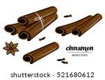 aromatic condiment  organic...   Shutterstock .eps vector #521680612