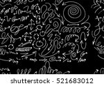 hand drawn doodle seamless... | Shutterstock .eps vector #521683012