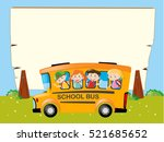 border template with kids on... | Shutterstock .eps vector #521685652