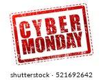 cyber monday grunge rubber...   Shutterstock . vector #521692642