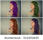 Woman With Different Hair Color ...
